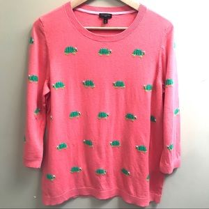 Talbots Melon Colored Turtle Sweater ! Size 1X